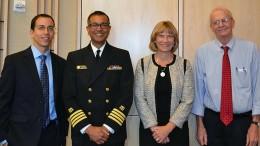 (L to R): David Weiss, PhD; Arjun Srinivasan, MD; Monica Farley, MD; James M. Hughes, MD