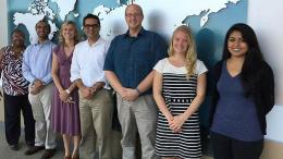 Pictured from left to right: Yvette Higgins-Sparks; Varun Phadke ; Allison Chamberlain; Saad B. Omer; Robert Bednarczyk; Kristen Allen; Mariam Siddiqui