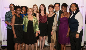 Back from left: Charmayne Dunlop-Thomas (MS, MPH); Monica Battle; Anna Stephens; Karla Caylor (RN); Cristina Drenkard (MD, PhD); Sam Lim (MD, MPH); Letheshia Husbands; Kelli Williams. Front: Mugishi Niyibizi; Wendy Carter