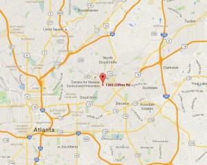 Map around Emory University Hospital