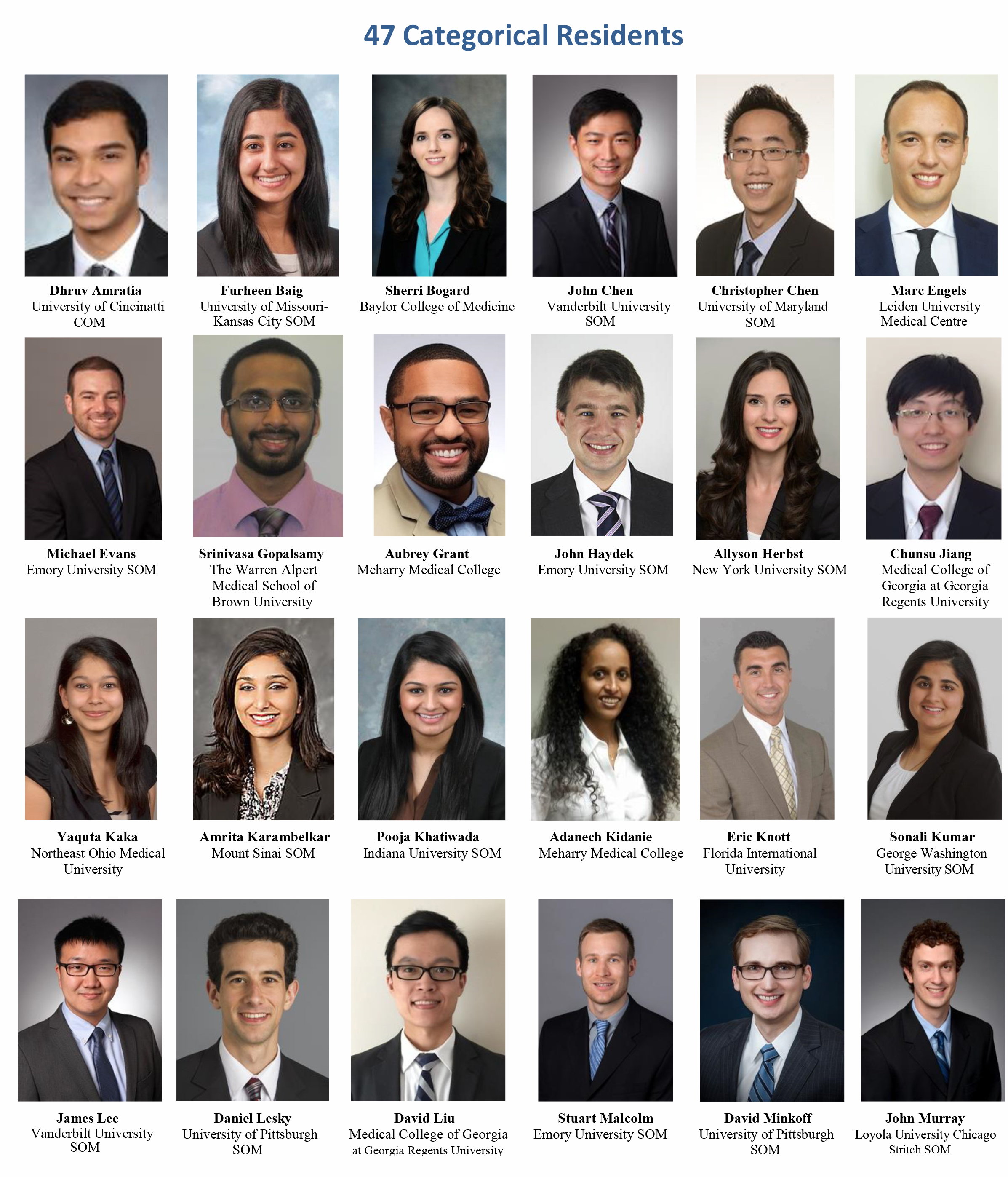 Please welcome our 2016 incoming residents - Emory Daily Pulse