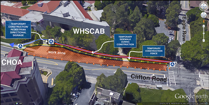 The first part of phase 1 of the 10-phase project will begin sometime next month at Eagle Row and Clifton Road near WHSCAB.