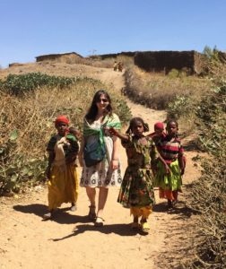 Dr. Fayfman and friends in the mountains outside of Harar, Ethiopia