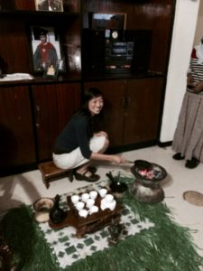 Dr. Sonya Haw performing a traditional coffee ceremony