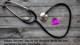 Happy Doctors's Day to our Gen Med and Geriatrics faculty members