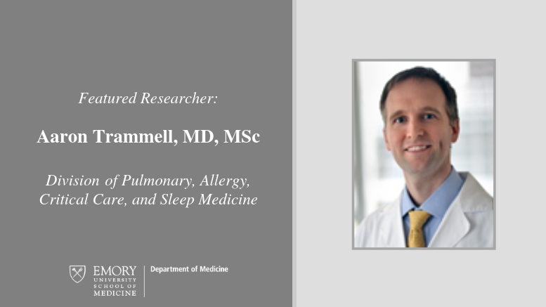 Highlighted Researcher: Aaron Trammell - Emory Daily Pulse